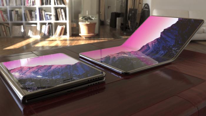 Samsung avec son smartphone à écran flexible
